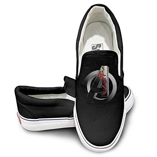 Price comparison product image TAYC Avengers Iron Man Logo New Design Sneaker Canvas Flat Black