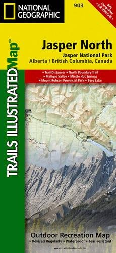 Jasper North [Jasper National Park] (National Geographic Trails Illustrated Map), by National Geographic Maps - Trails Illustrated