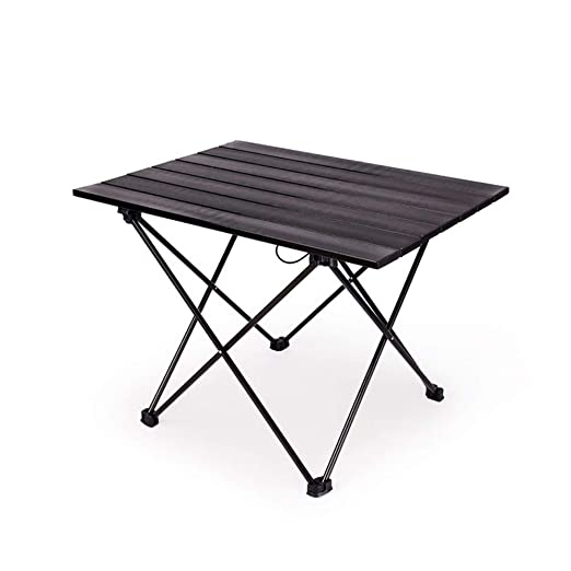 ZFH Mesa Plegable de Aluminio para Acampar Mesa portátil de ...
