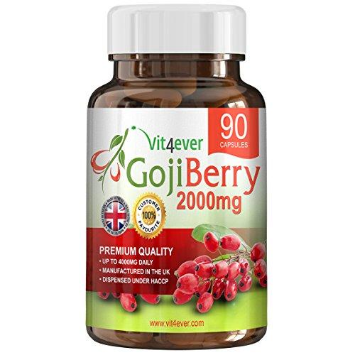 Goji Beere Berry - Wolfsbeere - 90 Tabletten - Hochdosiert 2000mg - Gesundheit