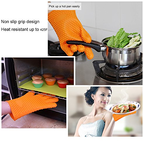 Want 1 Set Ticent Silicone BBQ/Cooking Gloves + 1 Set Meat Shredder/ Pulled Meat Separate Pork Claws Set, Barbecue Meat Handling Claws Barbecue Tool Sets opportunity