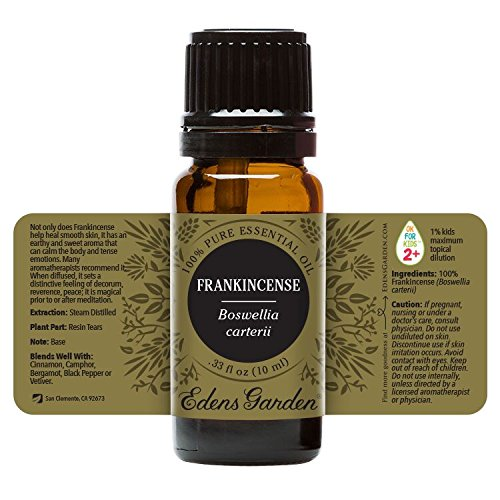 Frankincense- Carterii Essential Oil (100% Pure, Undiluted Therapeutic/Best Grade) Premium Aromatherapy Oils by Edens Garden- 10 ml - incensecentral.us