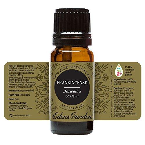 Edens Garden Frankincense Boswellia Carterii 100% Pure Therapeutic Grade Essential Oil, GC/MS Tested, 10 mL - incensecentral.us