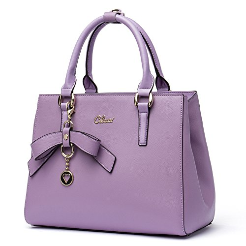 Purple Satchel Handbag - 5