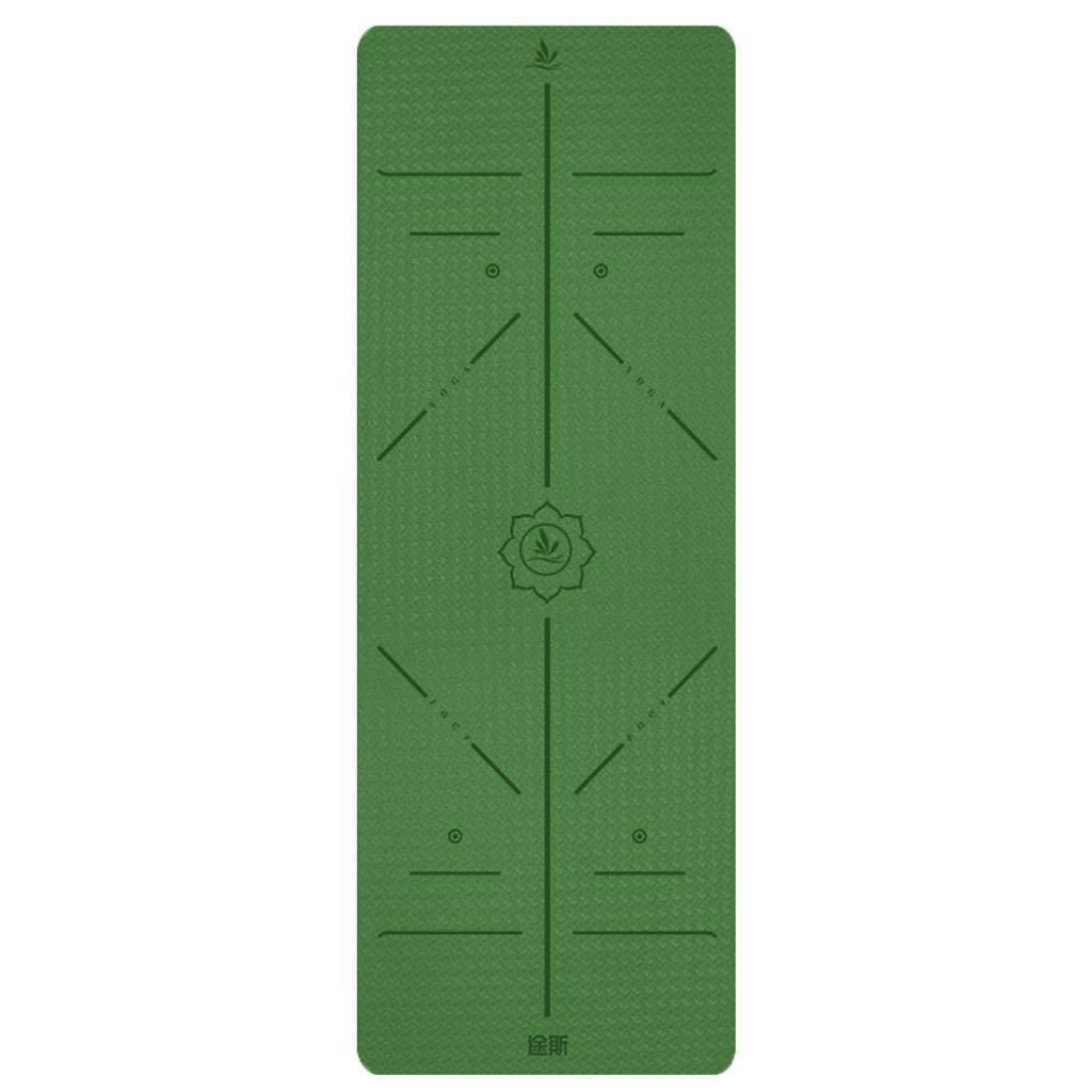 多機能ヨガマット6 Mm厚TPE無味ヨガフィットネスマット多色サイズオプション (色 : B) B07NMD7NDT E E