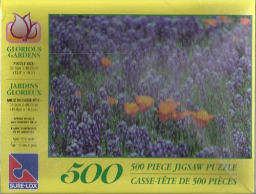 Spring Glorious (Glorious Gardens Spring Crocus and Hyacinth Field; 500 Puzzle Sure Lox; Sure-Lox)