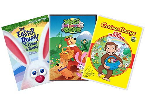 Ultimate Kids Cartoon Easter DVD Collection: The Easter Bunny is Coming to Town / Yogi the Easter Bear / Curious George: Egg Hunting ()