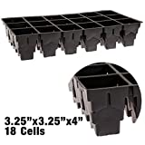 Rootmaker Propagation Trays, Case of 25 Trays - 18 Cells Per Tray (4 Inch Depth)
