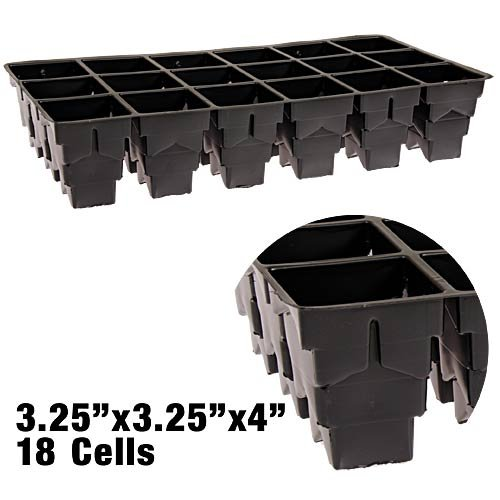 Rootmaker Propagation Trays, Case of 25 Trays - 18 Cells Per Tray (4 Inch Depth) by RootMaker