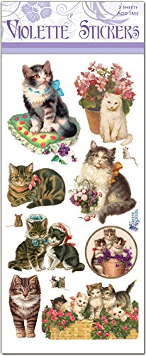 Lovely Victorian Cat Stickers