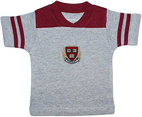 Creative Knitwear Harvard University Crest Football Shirt - Football Jersey Embroidered Red