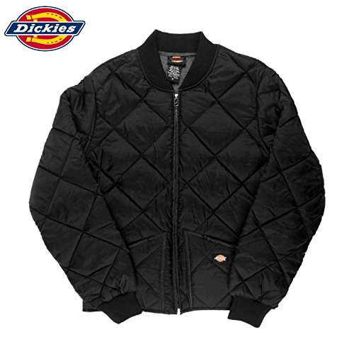Nylon Jacket Quilted Bomber (Men's Quilted Nylon Bomber Jacket (L, Black))