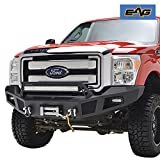EAG Heavy Duty Front Winch Bumper with LED Lights for 11-...