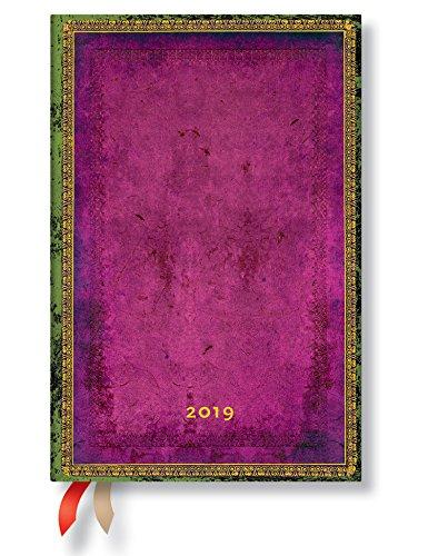 Paperblanks Agenda 2019 con marcapáginas. & Bolsillo Interior | Bizantino ntium | Semana para Semana (Horizontal) | Mini (140 x 100 mm)