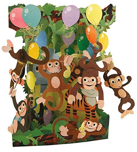 Santoro Interactive 3D Swing Greeting Card, Monkey Party]()