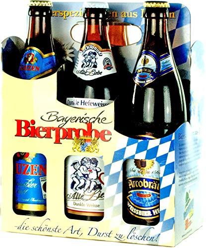 Genussleben Bier Mix 4,5% – 5,5% vol. 12x 0,5l (Bayrische Bierprobe 12er), Bierset, Biergeschenk für Männer mit…