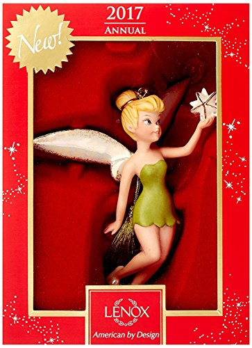 Lenox Disney 2017 Tinkerbell Figurine Ornament Annual Up & Away Tree Star Peter Pan Fairy Pixie