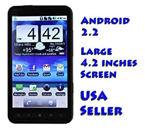PAE2000 Unlocked Android Smartphone with 4.2 inch Touch Screen WiFi GPS No Contract AT&T T-Mobile & other GSM networks