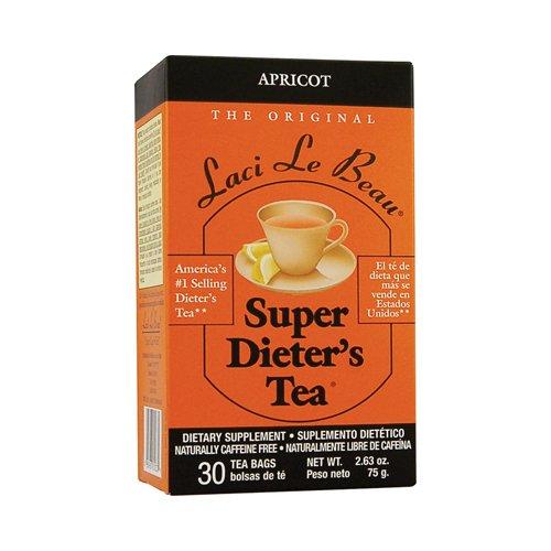 Super Dieters Apricot (2 Packs of Laci Le Beau Super Dieter's Tea Apricot - 30 Tea Bags)
