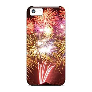linJUN FENGFor iphone 4/4s Protector Cases Fireworks Phone Covers