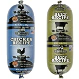 RedBarn Naturals Premium Dog Food Roll in 2 Flavors - Beef and Chicken - 2.3 Pounds Each (2 Rolls Total)