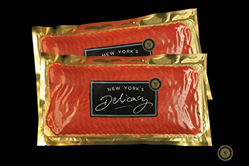 (New York's Delicacy, Most Awarded, Pre-Sliced, Fully Trimmed, Natural Smoked Salmon Nova. (2 x 1 Lb.))