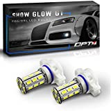 led 5202 fog lights 8000k - OPT7 Show Glow G1 5202 2504 LED Fog Light Bulbs - 6000K Cool White @ 225 Lms per bulb - All Bulb Sizes and Colors - 1 Year Warranty (Pack of 2)
