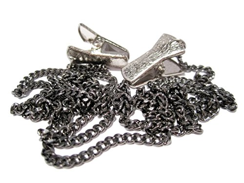 Gunmetal Chain Clip Eyeglass Holder - Glasses Holder Chain with Clip Grips