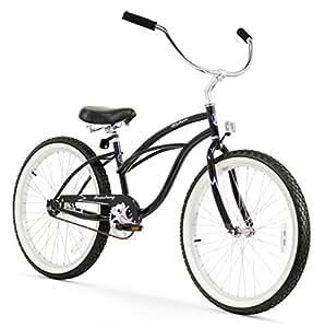 Firmstrong Urban Lady Single Speed Beach Cruiser Bicycle, 24-Inch, Black