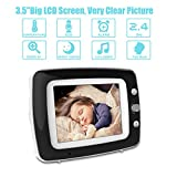 3.5 Inch Video Baby Monitor with Invisible Infrared Night Vision & Temperature Sensor, Two Way Talkback System, Soothing Lullabies