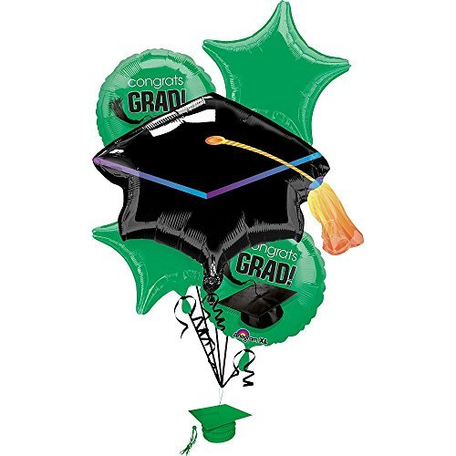 (Green School Colors Bouquet of Balloons Foil (1 Per Package) )