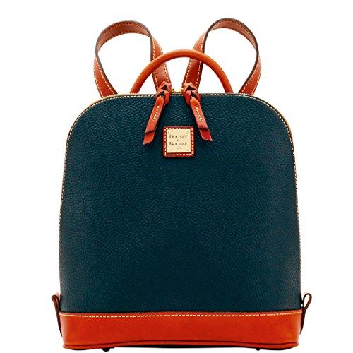 Dooney & Bourke Pebble Grain Zip Pod Backpack Black/ Tan