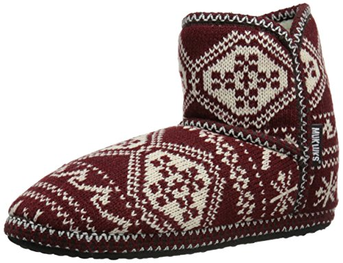 Red Bootie Amira Women's Slipper LUKS MUK Short UA61q4RWw