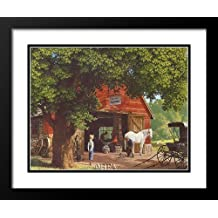 """Paul Detlefsen Framed and Double Matted Art 25x29 """"Horse And Buggy Days"""""""