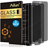 Ailun Screen Protector Compatible with iPhone 8 Plus 7 Plus 6 Plus 6s Plus,Privacy,Anti-Glare,Japanese Glass[3Pack],0.25MM Tempered Glass Compitable with Phone 8/7 Plus,Anti-Scratch,Case Friendly