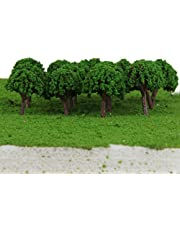 Flameer 50pcs Plastic Model Trees Layout Train Railway Scenery 3cm 1:500 N Scale