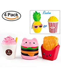 BeYumi Slow Rising Toy, Kawaii Hamburger, Fries, Pineapple, Popcorn, Drinks Set Meal Squishy Cream Scented Decompression Squeeze Toys for Collection Gift, decorative props Large or Stress Relief BOBEBE Online Baby Store From New York to Miami and Los Angeles