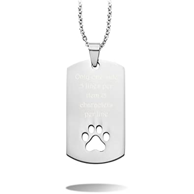 MeMeDIY Silver Tone Stainless Steel Pendant Necklace Heart ,come with Chain - Customized Engraving