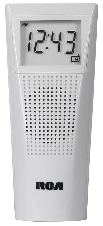 Amazon.com: RCA cuarto de baño Reloj Radio Blanco: Home ...