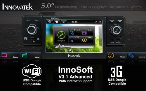 Amazon innovatek in w5gps in dash 5 digital touch screen amazon innovatek in w5gps in dash 5 digital touch screen single din wifi 3g car radio gps multimedia player with bluetooth frontal usb swarovskicordoba Images