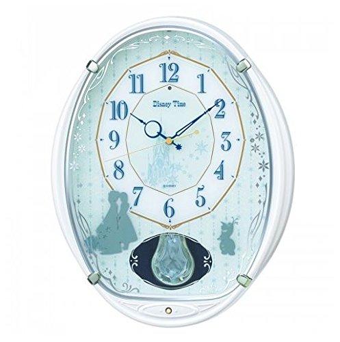 SEIKO CLOCK セイコークロック ディスニー アナと雪の女王 ディズニータイム メロディ 電波掛時計(白パール塗装) FW578W B01CKUCBWW