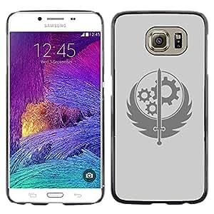 Caucho caso de Shell duro de la cubierta de accesorios de protección BY RAYDREAMMM - Samsung Galaxy S6 - Rueda Espada sesión