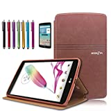 Mignova LG G Pad F 8.0 / G Pad II 8.0 Folio Case - Premium PU Leather Cover [Fit (4G LTE AT&T Model V495 / T-Mobile Model V496 / US Cellular Model UK495) & G Pad 2 8.0 V498] 8-Inch Tablet (Brown)