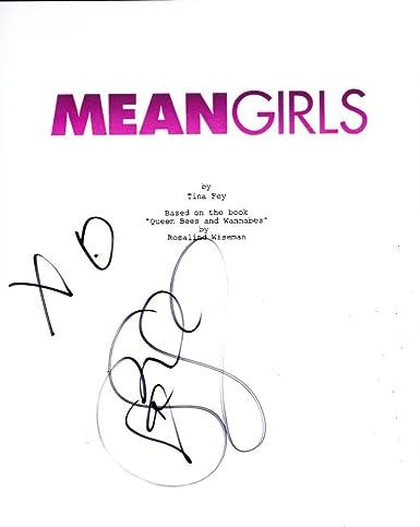 Lindsay Lohan Signed Mean Girls Full Script Authentic Autograph Coa