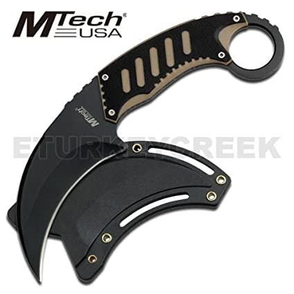 Amazon.com: Mt-665bt M Tech Karambit estilo Tactical Cuello ...