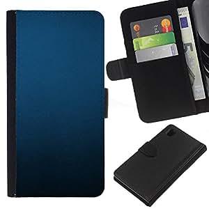 Sony Xperia Z1 / L39h / C6902 Modelo colorido cuero carpeta tirón caso cubierta piel Holster Funda protección - Uniform Minimalist Black Pastel