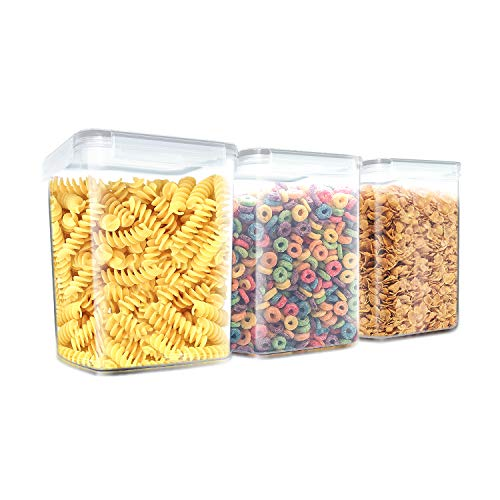 Inout airtight food storage container set of 3,Large size for 5LBS Sugar/Flour / Chip/cornmeal Container - Leakproof With Locking Lids - BPA Free Plastic - Microwave, Freezer and Dishwasher Safe