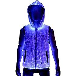 Fiber Optic Light Up Mens Hoodie Rave Clothing XXL