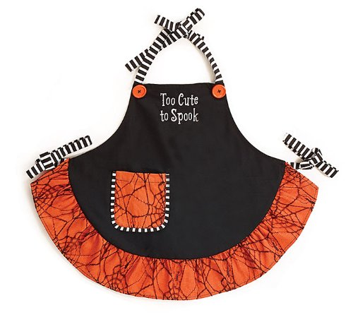 Too Cute to Spook Doll Size Halloween Apron- Halloween Holiday (Halloween Doll Patterns)