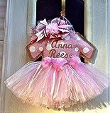 Baby Girl Hospital Door Hanger Rose Gold Baby